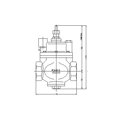 FMバルブ製作所【FMバルブ S-3型 50A】(ストレート型) 定水位弁 取付タイプ(ねじ込み型(Rc)) 本体材質:CAC901