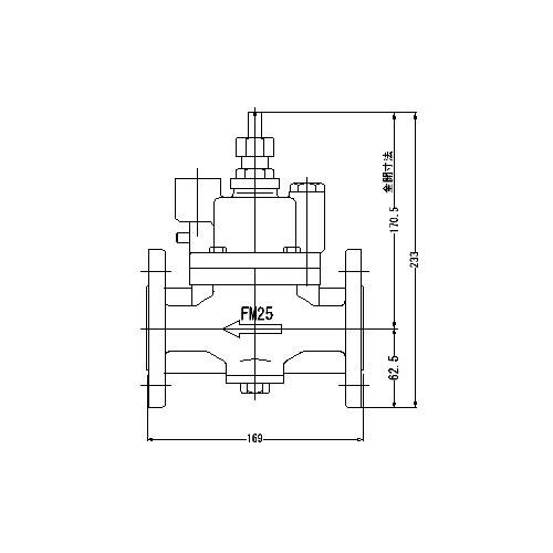 FMバルブ製作所【FMバルブ S-3F型 25A】(ストレート型) 定水位弁 取付タイプ(フランジ型) 本体材質:CAC901