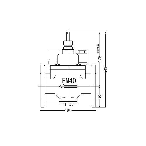FMバルブ製作所【FMバルブ S-3F型 40A】(ストレート型) 定水位弁 取付タイプ(フランジ型) 本体材質:CAC901