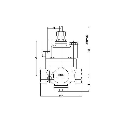 FMバルブ製作所【FMバルブ S-3N型 20A】(ストレート型・寒冷地仕様) 定水位弁 ピーコック付 取付タイプ(ねじ込み型(Rc)) 本体材質:CAC901