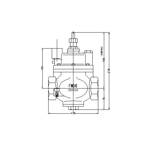 FMバルブ製作所【FMバルブ S-3N型 50A】(ストレート型・寒冷地仕様) 定水位弁 ピーコック付 取付タイプ(ねじ込み型(Rc)) 本体材質:CAC901