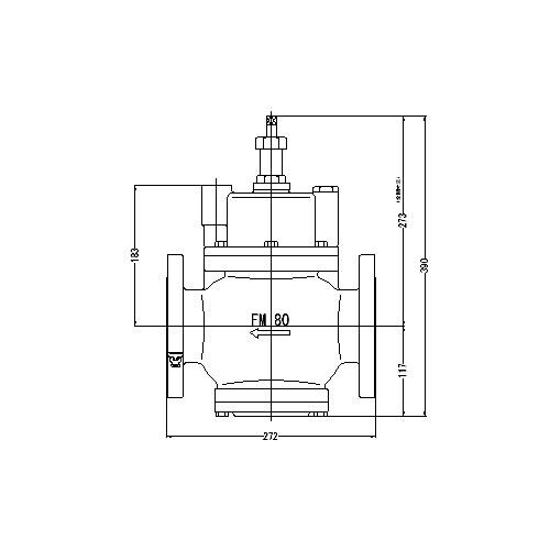 FMバルブ製作所【FMバルブ S-3N型 80(75)A】(ストレート型・寒冷地仕様) 定水位弁 ピーコック付 取付タイプ(フランジ型) 本体材質:CAC901