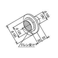 ###♪パーパス 排気関連部材【WTG-100A(D)-C400〔ZTWTG〕】TF用のウォールトップ