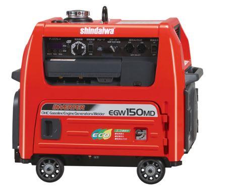 ###■P.新ダイワ【EGW150MD-I】防音型ガソリンエンジン溶接機
