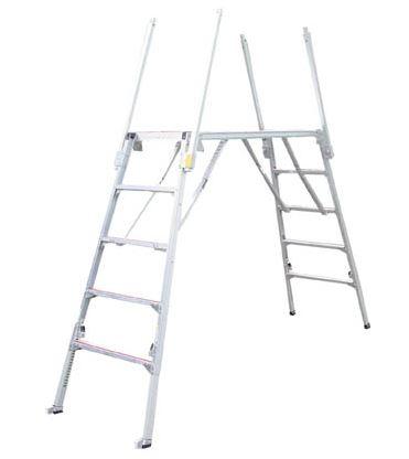 ###■P.ナカオ【SKY18-4】四脚調節式足場台(ラクダ) 可搬式作業台