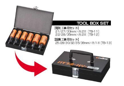 ■P.ユニカ【TB-11】充電ハイスホルソー ツバ無し 電材セット