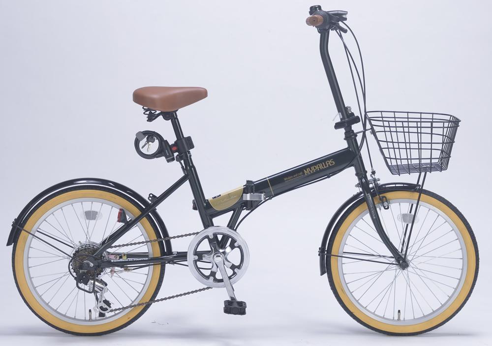 ###ω池商 マイパラス/MYPALLAS【M-252 GR】グリーン 折畳自転車20インチ 6段ギア オールインワン