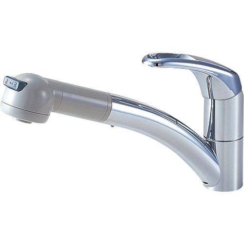 三栄水栓/SANEI 水栓金具【K8760JK-13】寒冷地 シングルワンホールスプレー混合栓