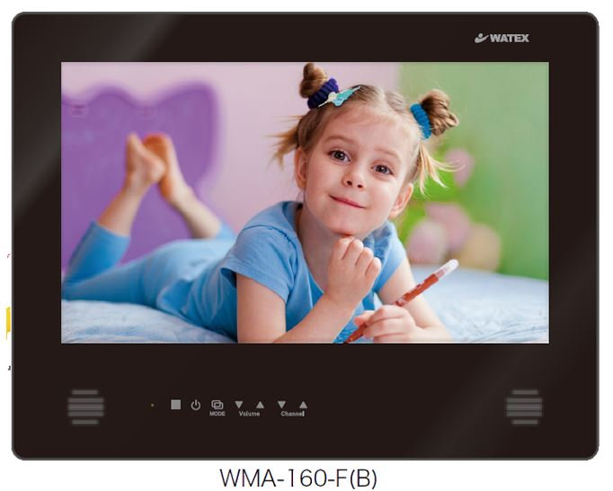 ##u.ワーテックス 浴室テレビ【WMA-160-F(B)】(ピアノブラック) 地上デジタル防水テレビ 16インチ(リモコン付属)