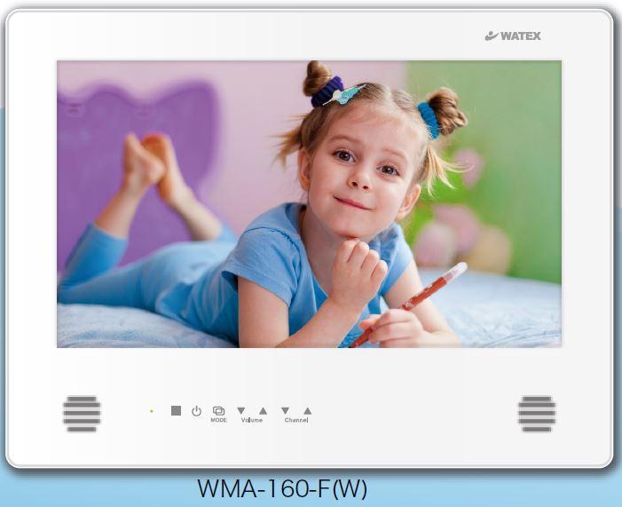 ##u.ワーテックス 浴室テレビ【WMA-160-F(W)】(パールホワイト) 地上デジタル防水テレビ 16インチ(リモコン付属)