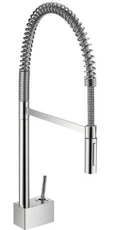 ハンスグローエ【10820000】アクサースタルク セミプロ シングルレバーキッチンシャワー混合水栓 整流吐水