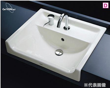 ###TOTO カウンター式洗面器【L350CM】(洗面器のみ) はめ込み角形洗面器 セルフリミング式