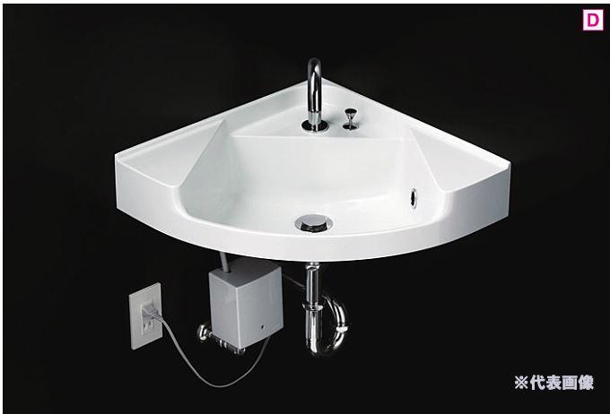 ###TOTO 壁掛洗面器【MLRA50A】(洗面器のみ) ホワイト カウンター一体形コーナー洗面器(樹脂製)