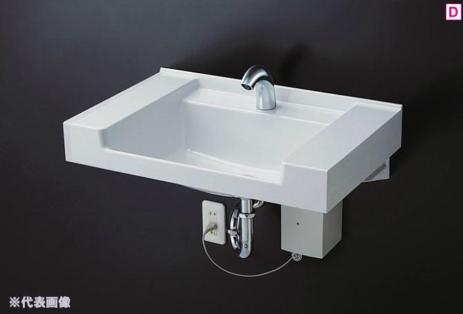 ###TOTO 壁掛洗面器 セット品番【MVRS45S+TENA40AJ】ホワイト カウンター一体形洗面器(樹脂製) 台付自動水栓 (床排水用)