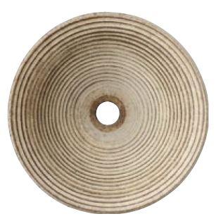 >三栄水栓/SANEI 【HW1023-L-009】(本体のみ) 手洗器 利楽 渦(うず) 丸置型(大)