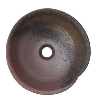 >三栄水栓/SANEI 【HW1023-L-020】(本体のみ) 手洗器 利楽 茜(あかね) 丸置型(大)
