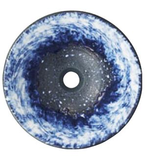 三栄水栓/SANEI 【HW1023-L-016】(本体のみ) 手洗器 利楽 碧空(へきくう) 丸置型(中)