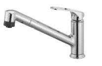 三栄水栓/SANEI 水栓金具【K87101JV-U-13】シングルワンホールスプレー混合栓 (省施工ナット付)