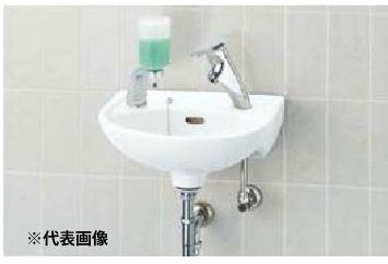 ▽INAX/LIXIL 手洗器セット品番【L-15G】平付大形手洗器(壁付式) シングルレバー単水栓 LF-47 壁給水・床排水(Sトラップ)