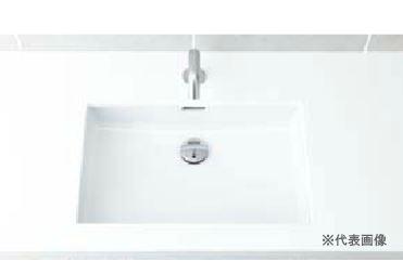 ▽INAX/LIXIL 洗面器セット【L-2250】はめ込み角形洗面器(アンダーカウンター式) 自動水栓 AC100V仕様 AM-130TC(100V) 壁給水・壁排水(Pトラップ)