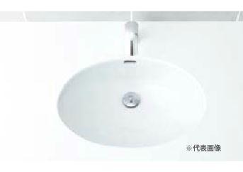 ▽INAX/LIXIL 洗面器【L-2295】はめ込みだ円形洗面器(アンダーカウンター式) 洗面器本体のみ