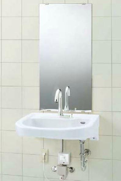 ###▽INAX/LIXIL 洗面器セット【L-365APR】車椅子対応洗面器 手動スイッチ付自動水栓(グースネックタイプ) AM-211TCV1 壁給水・壁排水(Pトラップ) 受注生産