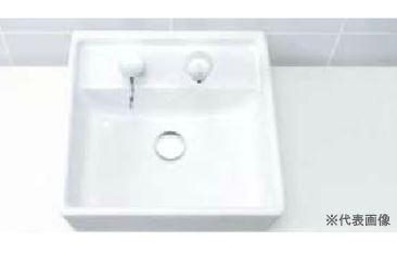 ▽INAX/LIXIL 洗面器セット【L-531N】角形洗面器(ベッセル・壁付兼用式) 自動水栓 AM-200TCV1 壁給水・床排水(Sトラップ)
