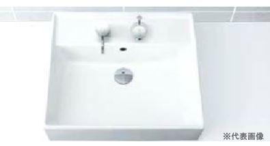 ▽INAX/LIXIL 洗面器セット【L-555FCRS】角形洗面器(ベッセル・壁付兼用式) 自動水栓 AC100V仕様 AM-200TV1 壁給水・床排水(Sトラップ)