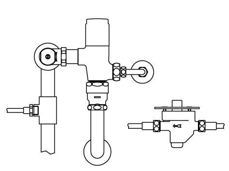 ###▽INAX リモコンフラッシュバルブ【CFR-610US-C】足踏式 露出形 中水 受注約4週