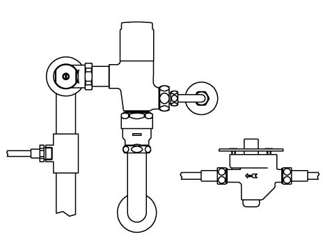 ###▽INAX リモコンフラッシュバルブ【CFR-610US】足踏式 露出形 中水 受注約4週