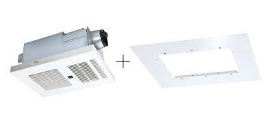 MAX/マックス 浴室暖房換気 乾燥機 本体・アダプタセット【BRS-C102HR-CX+BRS-CA01R】2室換気 100V リフォーム専用 BRSシリーズ