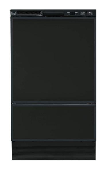 ###リンナイ 食器洗い乾燥機【RSW-F402C-B】取替用タイプ フロントオープン ブラック 幅45cm 化粧パネル対応(ブラック(ツヤ消)付属)