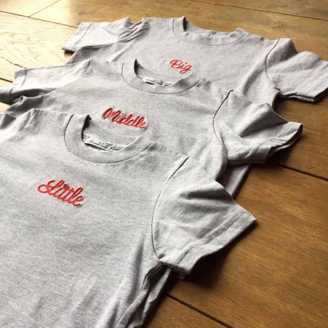 大放出セール 格安 3人目のお子さんのご出産祝いギフトに New 3人姉妹兄弟でお揃い Tシャツ3枚組ギフトセット 出産祝い ラッピング_包装 プレゼント Little×Middle×Big