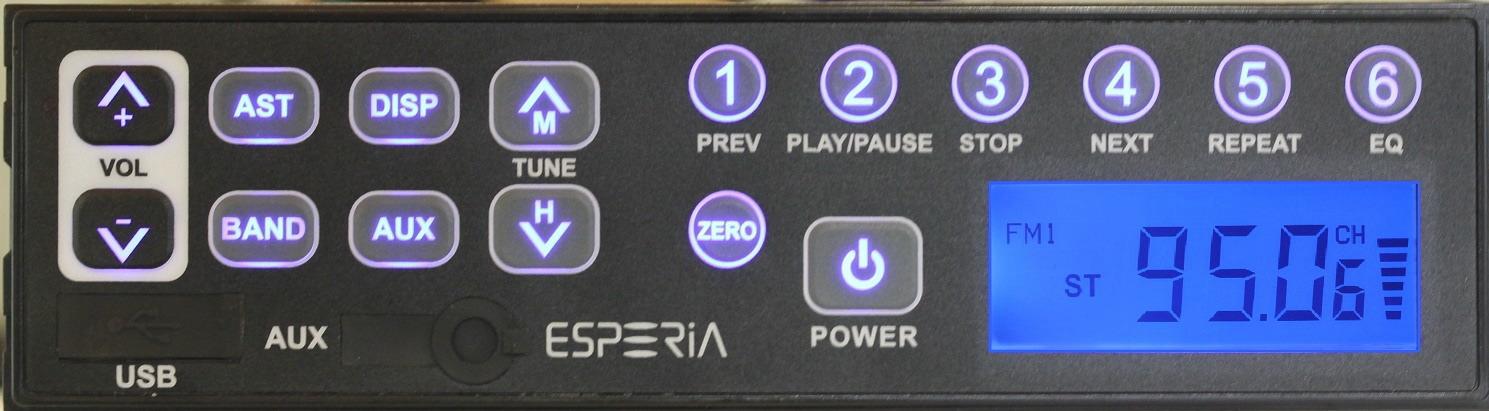 エスペリア KRH-M103WUSB/AUX端子付きAM/ワイドFM対応ステレオチューナー