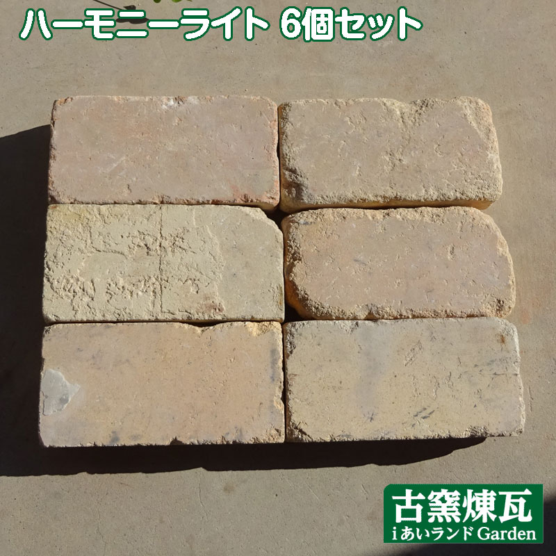 アンティークレンガハーモニーライトカラー送料込み6個セット(北海道は300円アップ)