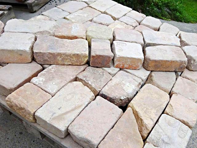 割れ煉瓦ベビーピンク(1平米分)