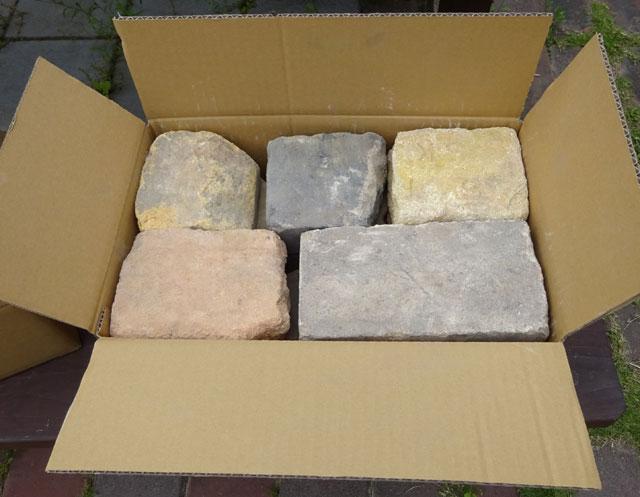 アンティークレンガオールドクラッシュ約1/5平米(20〜22kg)送料込みセット(北海道は300円アップ)