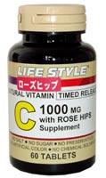 ライフスタイル(LIFE STYLE) ビタミンC1000 with ローズヒップ 5個セット 【送料無料】