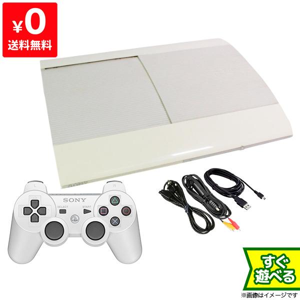 PS3 プレステ3 PlayStation 3 250GB クラシック・ホワイト CECH-4000B LW SONY ゲーム機 中古 すぐ遊べるセット 4948872413374 送料無料 【中古】