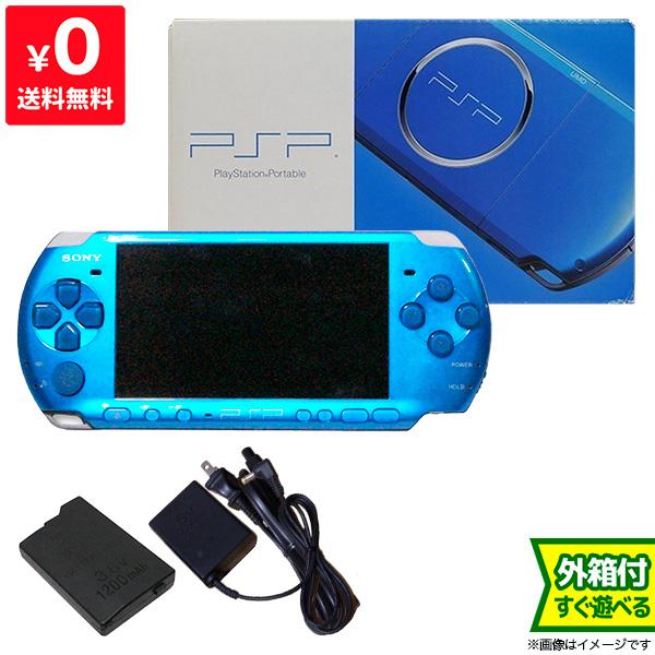 PSP バイブラント ブルー PSP-3000 プレイステーションポータブル 完品 中古 4948872412124 送料無料 【中古】