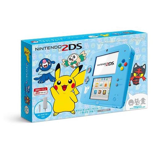 2DS ニンテンドー2DS ポケットモンスター サン・ムーン(ライトブルー)FTR-S-BDAA 本体のみ タッチペン付き Nintendo 任天堂 ニンテンドー 中古 4902370534269 送料無料 【中古】
