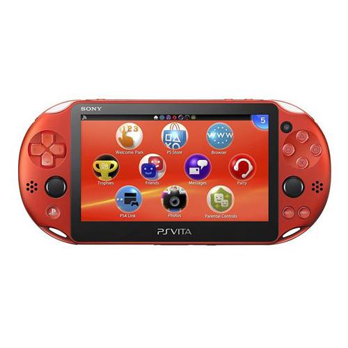 PSVita 2000 PlayStation Vita Wi-Fiモデル メタリック・レッド (PCH-2000ZA26) 本体のみ PlayStationVita SONY ソニー 中古 4948872414319 送料無料 【中古】