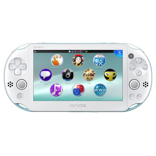 PSVita 2000 PlayStation Vita Wi-Fiモデル ライトブルー/ホワイト (PCH-2000ZA14) 本体 完品 外箱付き PlayStationVita SONY ソニー 中古 4948872413688 送料無料 【中古】