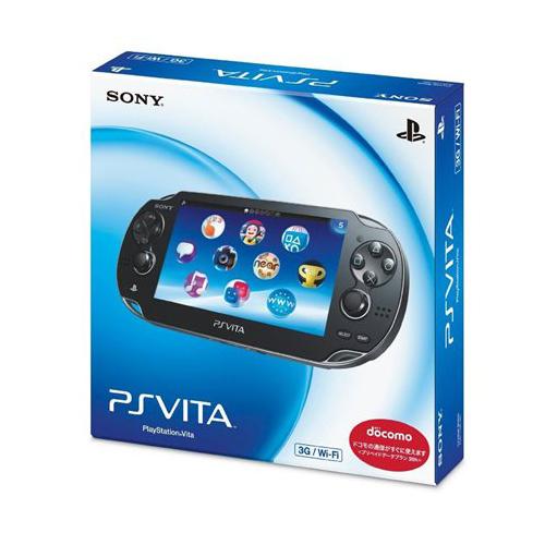 PSVita PlayStation Vita 3G/Wi-Fiモデル クリスタル・ブラック 限定版 (PCH-1100AB01) 本体 完品 外箱付き PlayStationVita SONY ソニー 中古 4948872412940 送料無料 【中古】