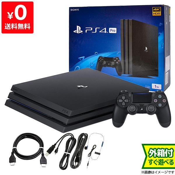PS4 プレステ4 プレイステーション4 本体 中古 1TB Pro ジェット・ブラック CUH-7100BB01 完品 PlayStation4 SONY ソニー 4948872414487 送料無料 【中古】