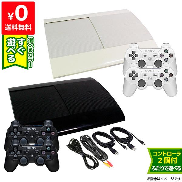 PS3 プレステ3 プレイステーション3 本体 すぐ遊べるセット CECH-4200B 純正 選べる2色 2個付き 中古 3 SONY 超美品再入荷品質至上 ゲーム機 PlayStation コントローラー 激安通販販売