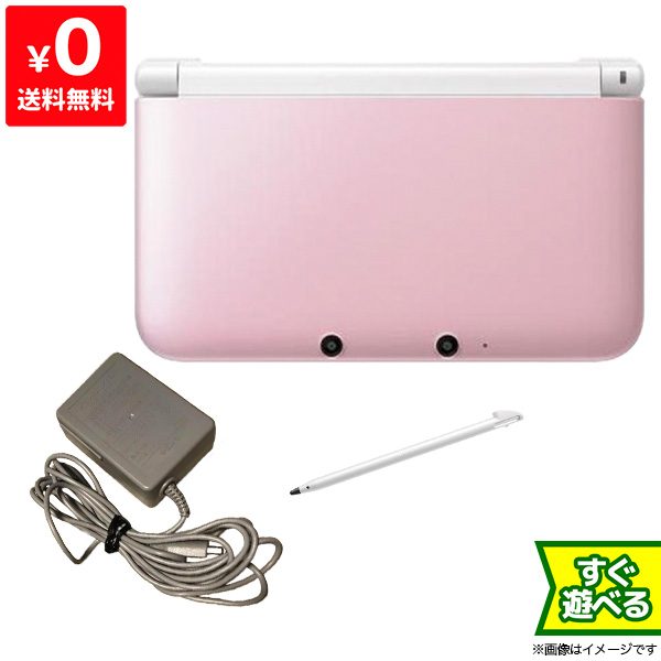 3DSLL 本体 中古 すぐ遊べるセット 充電器付き ニンテンドー3DS 本物 SALE 4902370519921 LL ニンテンドー 任天堂 Nintendo ピンクXホワイト