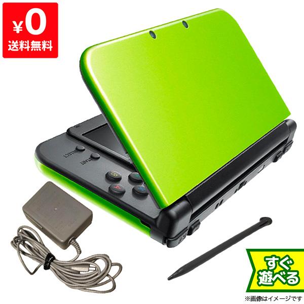 New3DSLL Newニンテンドー3DS LL ライム×ブラック(RED-S-MAAA) 本体 すぐ遊べるセット Nintendo 任天堂 ニンテンドー 4902370533217 【中古】