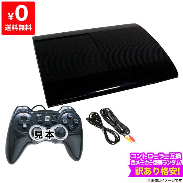 PS3 プレステ3 プレイステーション3 人気の定番 本体 すぐ遊べるセット 互換コントローラー1個付 チャコール 商店 CECH-4300C ブラック 500GB 中古