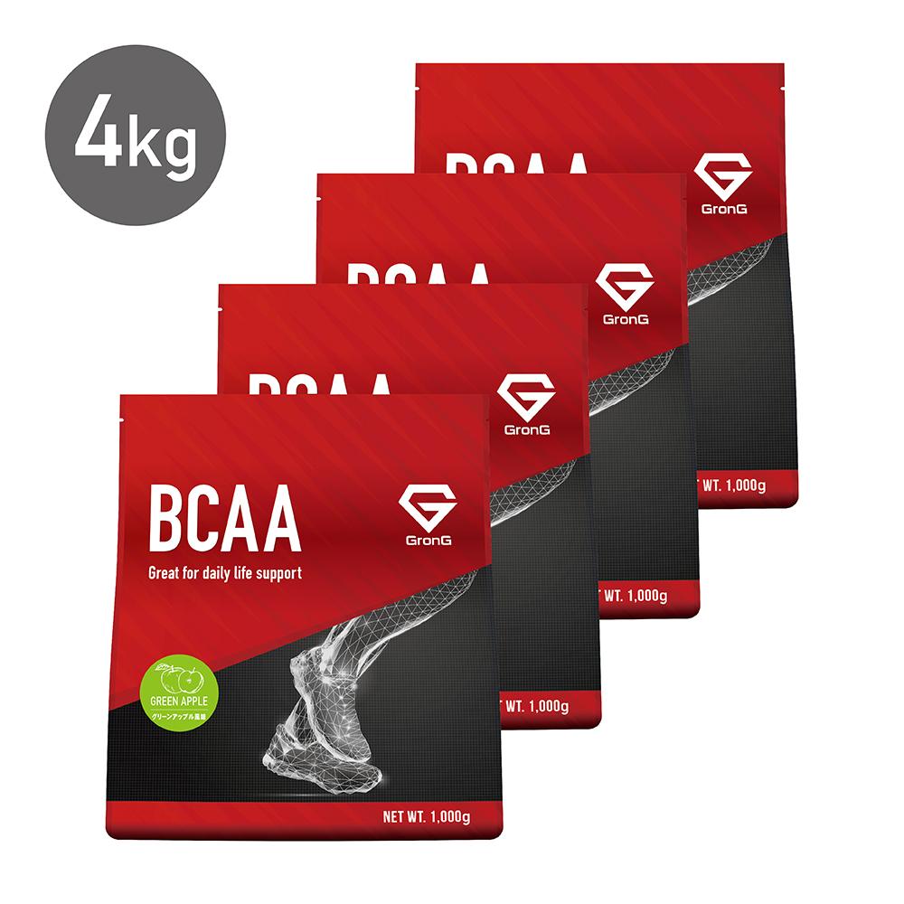 GronG(グロング) BCAA 含有率84% グリーンアップル 風味 4kg (400食分) 分岐鎖アミノ酸 サプリメント スポーツ トレーニング